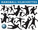 Handball silhouettes