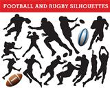 Rugby and football silhouettes