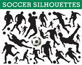Soccer silhouettes