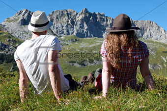 Break during a hiking tour