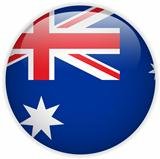 Australia Flag Glossy Button