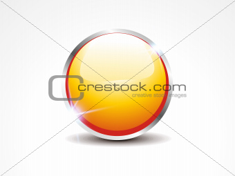 abstract glossy yellow web button