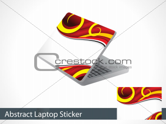 abstract laptap sticker