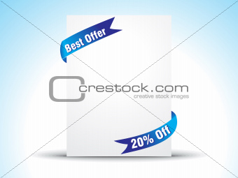 abstract offer ribbon