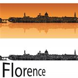 Florence skyline in orange background