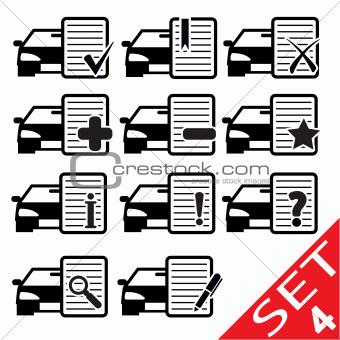 Car Web icons