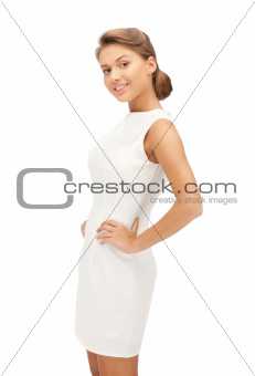 lovely woman in elegant dress