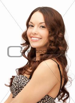beautiful woman in bra