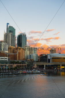 Sydney view on the sunset