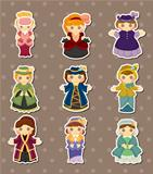 cartoon Medieval beautiful girls stickers