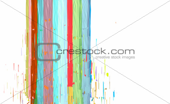 abstract fragmented stroke pattern in multiple color