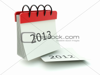 2013 calendar icon isolated on white