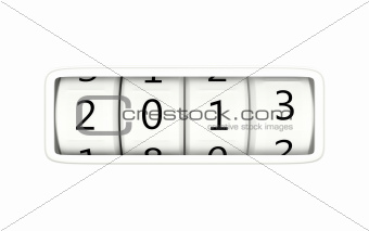 2013 New Year symbol isolated on white
