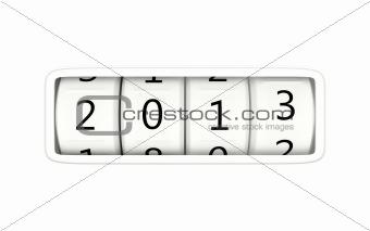 2013 New Year symbol isolated on white