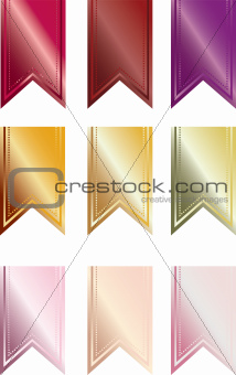 Warm-colored Pendant Banners