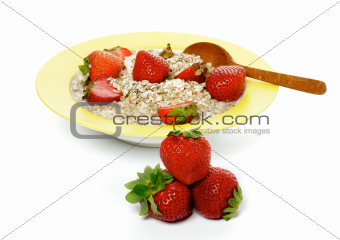 Healthy Breakfast and Strawberries