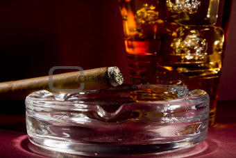 Cigar and Whiskey