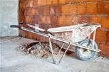 wheelbarrow in workplace