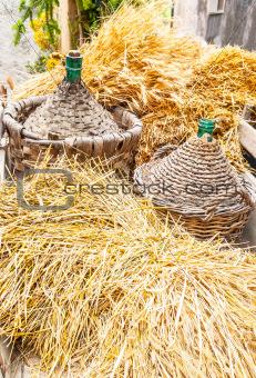 Autumn harvest demijohn wicker