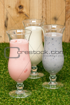 Three kind of a milk shake