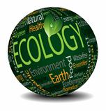 Ecology tag cloud sphere