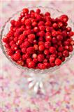 Bowl of wild strawberries