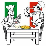 Two Italian cooks