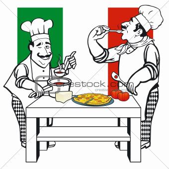 Two Italian cooks