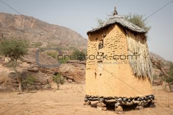 Granary in a Dogon village, Mali, Africa.