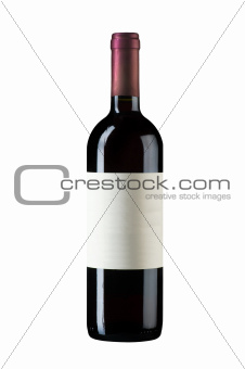 isolated wine bottle