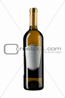 wine bottle on white