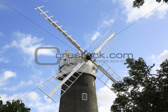 windmill north norfolk countryside england
