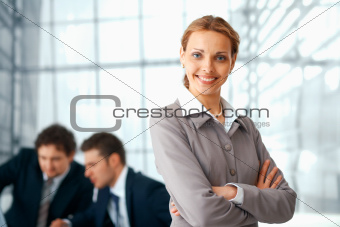 Business Woman With Folded Hands.