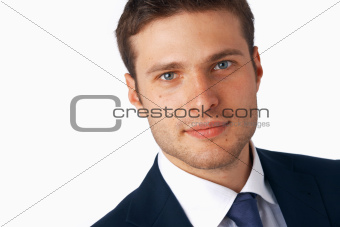 Closeup Of Young Businessman.