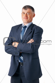 Closeup of mature businessman.