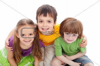 Childhood friends portrait