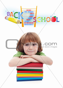 Child preparing for elementary school