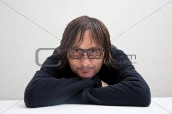 Casual man thinking