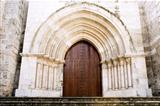 Wooden gate of ancient Cathedral