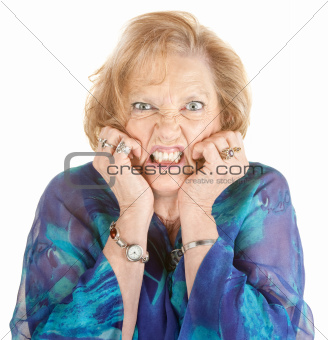 Woman With Hands on Face