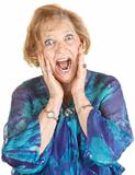 Frightened Elderly Woman