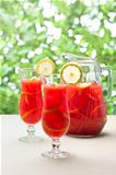 Chilled Orange Lemon Sangria