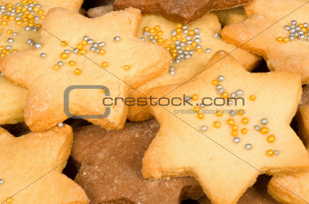 Full frame Christmas biscuits