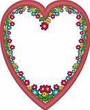 Frame heart flowers