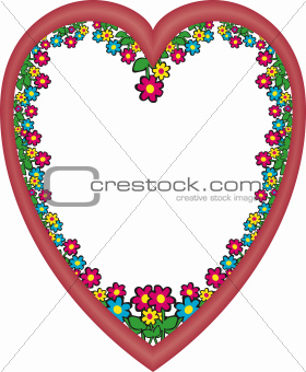 Frame heart flowers