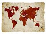 world map on paper