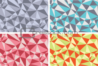 Background abstract textures with triangles