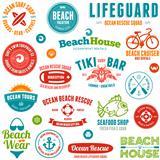 Beach badges and emblems