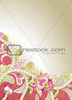 Abstract Pink Floral