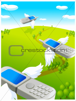 Flying cell phones